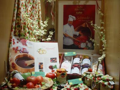 Vitrinen-Marketing für Frühstück und als Mitbringsel